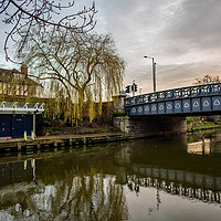 Buy canvas prints of Foundry Bridge over the River Wensum, Norwich by Chris Yaxley