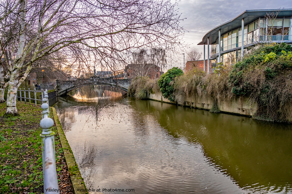 Walk along along the River Wensum, Norwich Canvas Print by Chris Yaxley