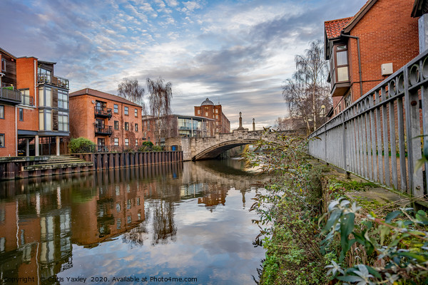 White Friars in the city of Norwich, Norfolk Canvas Print by Chris Yaxley