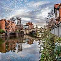 Buy canvas prints of White Friars in the city of Norwich, Norfolk by Chris Yaxley