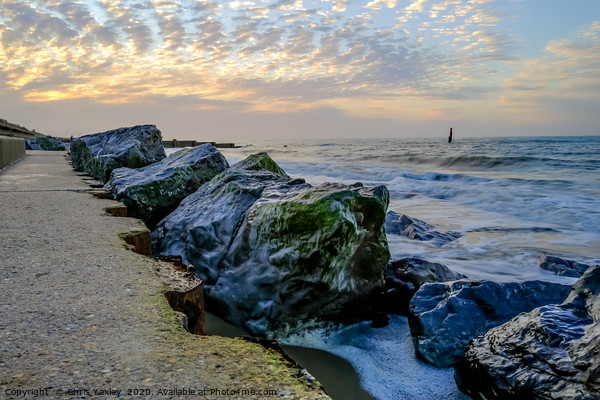 High tide at Cart Gap on the Norfolk coast Canvas Print by Chris Yaxley