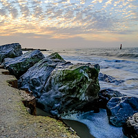 Buy canvas prints of High tide at Cart Gap on the Norfolk coast by Chris Yaxley