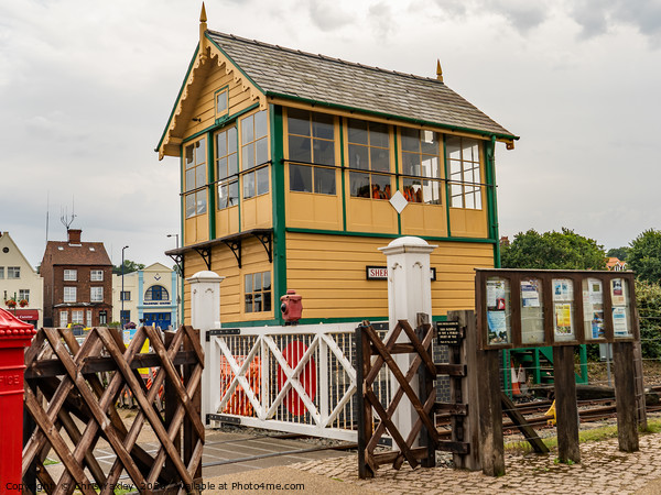 Sheringham Signal House, Bittern Line, Norfolk Canvas Print by Chris Yaxley