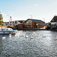 Buy canvas prints of River Bure, Wroxham by Chris Yaxley