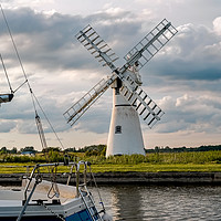 Buy canvas prints of Thurne Mill at Thurne Mouth in the Norfolk Broads by Chris Yaxley