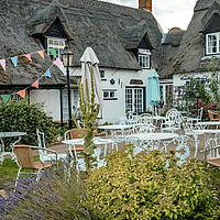 Buy canvas prints of Staithe N Willow cafe in the village of Norfolk by Chris Yaxley