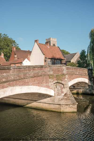 Fye Bridge River Wensum crossing, Norwich Canvas Print by Chris Yaxley