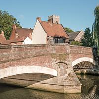 Buy canvas prints of Fye Bridge River Wensum crossing, Norwich by Chris Yaxley