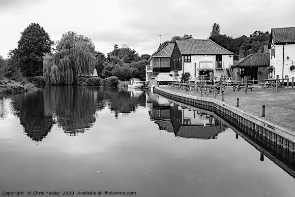 Rising Sun Pub on the bank of the River Bure Canvas Print by Chris Yaxley
