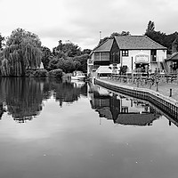 Buy canvas prints of Rising Sun Pub on the bank of the River Bure by Chris Yaxley