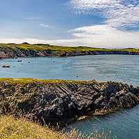 Buy canvas prints of A view across St Justinian's on the Pembrokeshire  by Chris Yaxley