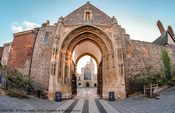 Erpingham Gate entrance to Cathedral Close Canvas Print by Chris Yaxley