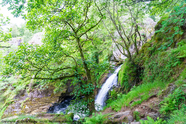 Ceunant Mawr, Llanberis water fall, North Wales Framed Print by Chris Yaxley