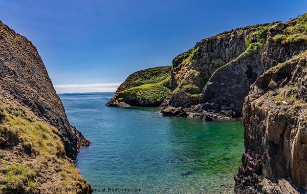 Rocky coastline of Ramsey Island, Wales Framed Print by Chris Yaxley