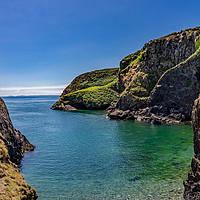 Buy canvas prints of Rocky coastline of Ramsey Island, Wales by Chris Yaxley