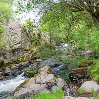 Buy canvas prints of Ceunant Mawr, Llanberis water fall, North Wales by Chris Yaxley
