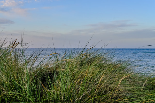 The Norfolk coast captured from the sand dunes Canvas Print by Chris Yaxley