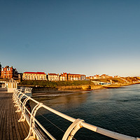 Buy canvas prints of Fish eye view of Cromer at sunrise captured from t by Chris Yaxley