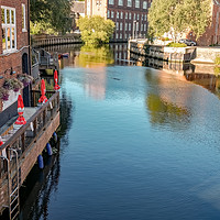 Buy canvas prints of Ribs of Beef pub on the River Wensum, Norwich by Chris Yaxley