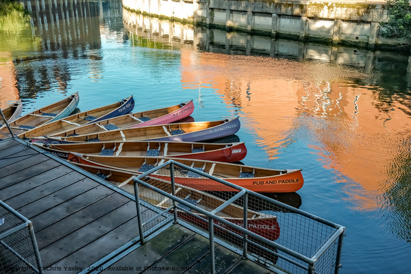 Pub & Paddle canoe hire on the River Wensum, Norwi Canvas Print by Chris Yaxley