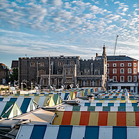 Buy canvas prints of A view across the outdoor market in the city of No by Chris Yaxley