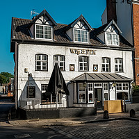 Buy canvas prints of Wig & Pen pub, Norwich by Chris Yaxley