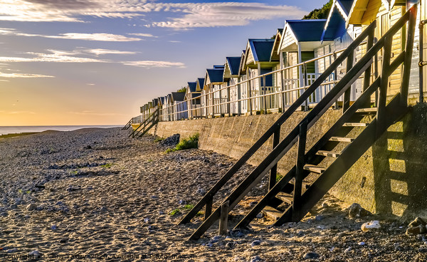 Cromer beach huts at sunrise Canvas Print by Chris Yaxley