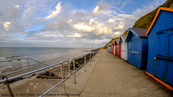 Sheringham beach on the North Norfolk coast late a Canvas Print by Chris Yaxley