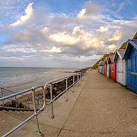 Buy canvas prints of Sheringham beach on the North Norfolk coast late a by Chris Yaxley