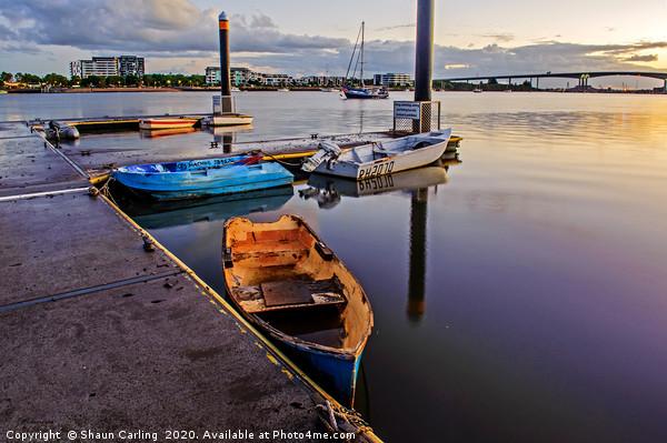 Brisbane River Boats Canvas print by Shaun Carling