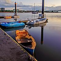 Buy canvas prints of Brisbane River Boats by Shaun Carling