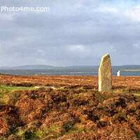Buy canvas prints of Ring of Brodgar, Orkney Islands, Scotland Panoramic by Navin Mistry