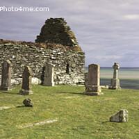 Buy canvas prints of The ruins of Kilnave Chapel, Islay, Scotland by Navin Mistry