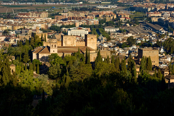 Alhambra, Granada, Andalusia, Spain  Print by Navin Mistry