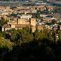 Buy canvas prints of Alhambra, Granada, Andalusia, Spain  by Navin Mistry