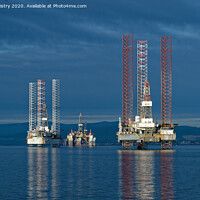 Buy canvas prints of Drilling Rigs in the Cromarty Firth by Navin Mistry