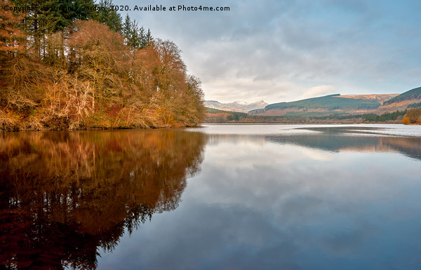 Reflections on Pontsticill Reservoir Canvas print by Virginia Gordon