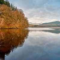 Buy canvas prints of Reflections on Pontsticill Reservoir by Virginia Gordon