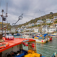 Buy canvas prints of Fishing Boats, Polperro, Cornwall by Gordon Maclaren