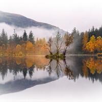 Buy canvas prints of Hospital Lochan Glencoe Village Misty Reflections  by Barbara Jones