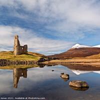 Buy canvas prints of Loch Assynt Ardvreck Castle Scotland by Barbara Jones