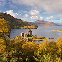 Buy canvas prints of Eilean Donan Castle  and Skye in Autumn  Scotland by Barbara Jones