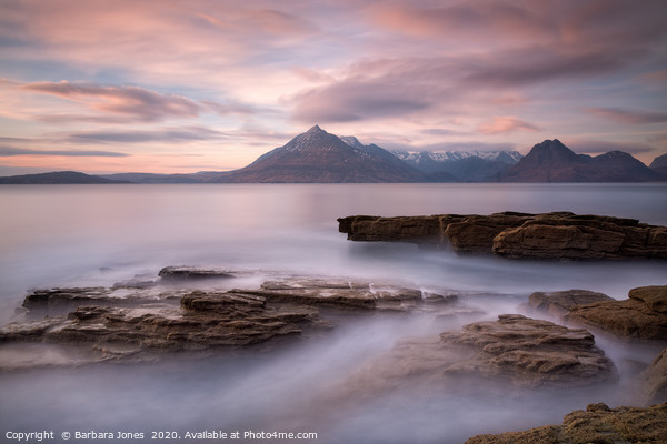 Elgol Sunset Isle of Skye Scotland Canvas Print by Barbara Jones