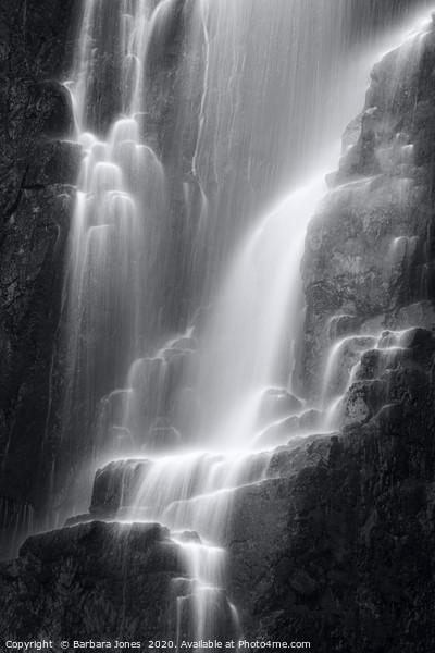 Wailing Widow Falls in Mono Assynt Scotland. Canvas Print by Barbara Jones