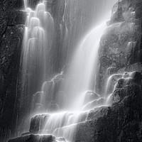 Buy canvas prints of Wailing Widow Falls in Mono Assynt Scotland. by Barbara Jones