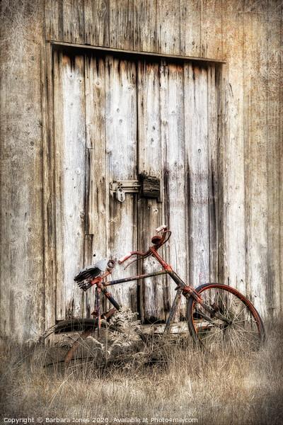 Glen Etive Shed and Bike Scotland Framed Print by Barbara Jones
