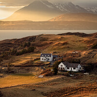 Buy canvas prints of Cuillin Sunset Tarskavaig Isle of Skye Scotland. by Barbara Jones