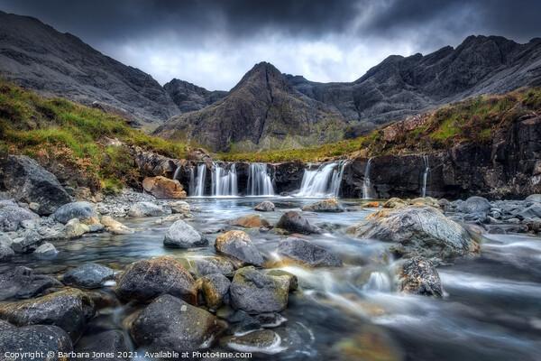 Fairy Pools Isle of Skye Scotland Canvas Print by Barbara Jones