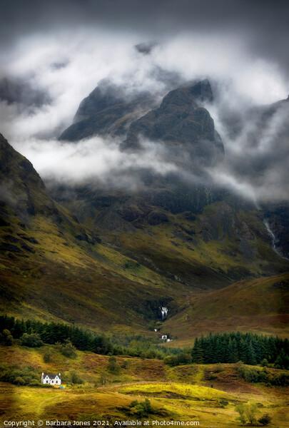 Blaven in a Malevolent Mood isle of Skye Scotland Canvas Print by Barbara Jones