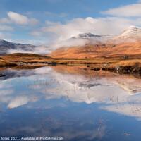 Buy canvas prints of Blackmount in Autumn Misty Hills Rannoch Scotland by Barbara Jones